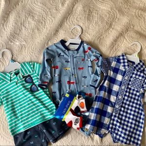 New Carters Baby Boy Bundle - Mixed sizes